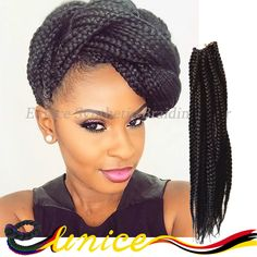 """Top Sale 24"""" Box Braid Twist 20 strands/pack Crochet Braids Synthetic Senegalese Hair Extension Havana Mambo Twist Dread Fauxloc. If you like our 24 inches box braids havana mambo twist crochet braids hair extension, just contact with me through Whatsapp:+8615670398682."""
