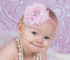 Pink Headband Newborn Headband Baby by SparklesButterflies on Etsy, $5.95