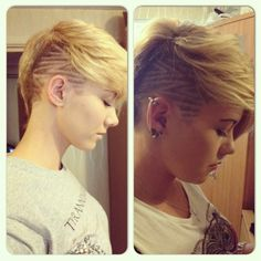both sides of a one side shave pixie - Google Search