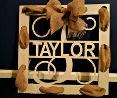 Monogram Door Hanger, Burlap wreath, Burlap Door wreath, Wall hanging, Wedding Decor, Metal Signs, Gift for Her, Valentine gift, Farmhouse