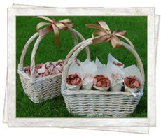 Real petals in a basket are lovely for flowergirls