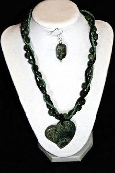 A multi strand jasper necklace by  Chris Mace.