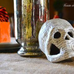 DIY Paper Mache Pumpkins and Skulls