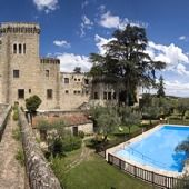 Jarandilla de la Vera. For several months this castle was the home of Emperor Charles V. This four star Parador hotel is in the middle of the orchard of La Vera and surrounded by ravines through which streams flow with natural pools.