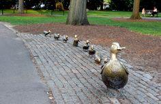 A monument to ducks in Boston Common