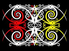 dayak motif - Google Search Powerpoint Template Free, Tapestry, Wallpaper, Architecture, Gallery, Pattern, Borneo Tattoos, Inspiration, Image
