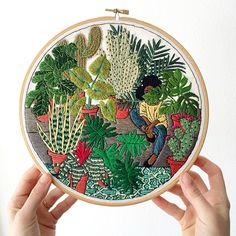 Girl and Potted Jungle 2016 Sarah K. Benning