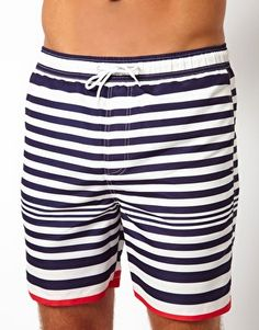 Image 1 ofASOS Stripe Swim Shorts | $36.24