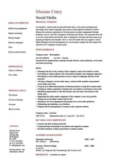 Social Media Manager Resumes Executive Resume Template, Student Resume Template, Resume Design Template, Sample Resume Cover Letter, Sample Resume Templates, Resume Writing Tips, Resume Skills, Professional Cover Letter, Professional Resume