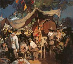 Feria Gustavo Bacarisas y Podestá fue un pintor gibraltareño que realizó la mayor parte de su obra en el entorno cultural y geográfico español, más concretamente en Sevilla