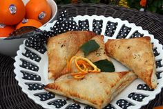 Orange Chocolate Turnovers - really just oranges and chocolate chips in puff pastry but I love those chocolate oranges you get around Christmas time so it makes me think of that.