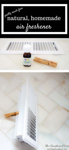 SMARTEST, easiest, cheapest ever DIY air freshener maybe ever! Make this DIY homemade air freshener using only natural oils. No more nasty chemically plug-ins! full tutorial on www.heatherednest.com