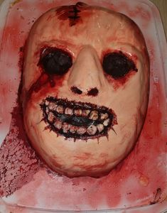 Blood Face - Halloween 2018 - by Heather Arbiter (inspired by American Horror Story) Halloween 2017, American Horror Story, Horror Stories, Blood, Halloween Face Makeup, Cakes, Inspired, American Horror Stories, Cake Makers