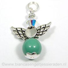 Hangertje Beschermengeltje Crystal Jade Clear AB http://www.biancasengeltjessieraden.nl/c-2017591/beschermengeltjes-hangertjes/
