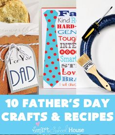 Are you looking for some Father's Day Craft and Recipe Ideas? Father's Day is coming up quickly so it is best to plan out your meals and gifts now. Here are some beautifully simple Father's Day Craft and Recipes for you to impress your husband, father, or