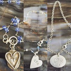 Special necklace for a special occasion. (Baptism date on the back) #ctr #ctrnecklace