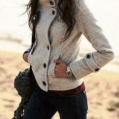 I love this comfy jacket! Great look for fall