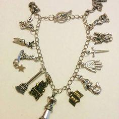 Harry Potter fandom bracelet,charm bracelet,cosplay,severus snake,hermione,hogwarts,gryffindor,muggle born,dark lord by Blackrose37 on Etsy