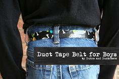 A Duct Tape Belt {for Boys
