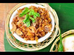 Thai Food - Dried Shrimp Paste (Nam Prik Goong Hang) Dried shrimp paste is the main ingredients of this chilli paste. Dried Shrimp, Shrimp Paste, Chilli Paste, Goong, Thai Recipes, Allrecipes, Chicken, Meat, Dinner