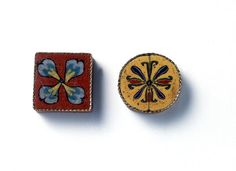 Romano-Egyptian Mosaic Glass Inlays with Plant Motifs | par Ancient Art