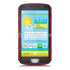 Mobile Phone. Touch Screen. Vector