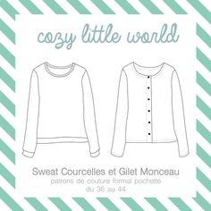 Image of Patron pochette - Gilet Monceau et Sweat Courcelles (36-44)