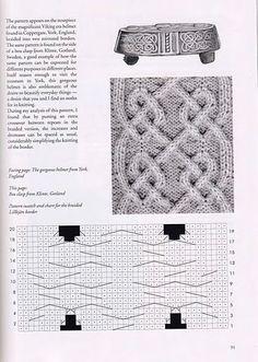 Viking patterns for knitting Cable Knitting Patterns, Knitting Stiches, Knitting Charts, Knitting Yarn, Lace Patterns, Stitch Patterns, Crochet Patterns, Viking Pattern, Viking Knit
