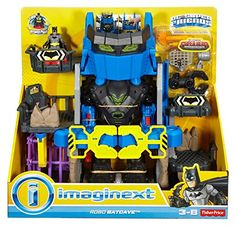 Fisher-Price Imaginext DC Super Friends - Robo Batcave Playset, Toys Kids New Batman Toys For Kids, Toys For Boys, Batman Figures, Action Figures, Legos, Power Rangers Ninja, Fisher Price Toys, O Pokemon, Halloween Disfraces