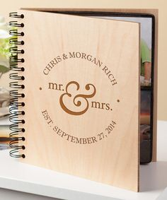 This 'Mr. & Mrs.' Wood Personalized Photo Album is perfect! #zulilyfinds