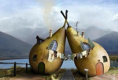 .A pair of Pears--Is this for real or a photoshop/drawing?