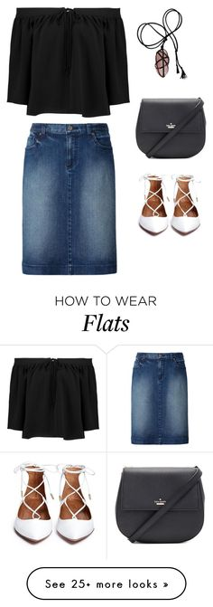 """flee you evil"" by minee1997 on Polyvore featuring Uniqlo, Elizabeth and James and Kate Spade"