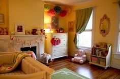 Does it get any better than a fireplace in the nursery?  Once you start looking around this space you realize...it does!  www.modernparentsmessykids.com
