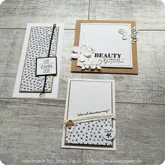 black&white Stampin'up! schwarz weiß Jenni Pauli Dekoration Karten Layout