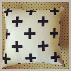 Scandi cross cushion - via DTLL.