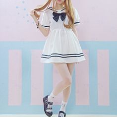 Dolly Japanese Sailor Ruffle Dress