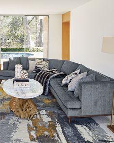 H8BXH Ambella Capri Curved Sectional Sofa