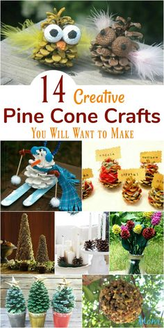 Put those pine cones to good use with these fun and Creative Pine Cone Crafts! Christmas Crafts To Sell, Crafts To Do, Holiday Crafts, Christmas Diy, Christmas Decorations, Pinecone Crafts Kids, Fall Crafts, Pinecone Decor, Nature Crafts