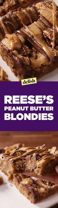 Reese's Peanut Butter BlondiesDelish