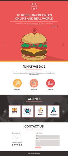 Website Design #3 on #Behance #website #design #photoshop #psd #one #page #bootstrap #grid