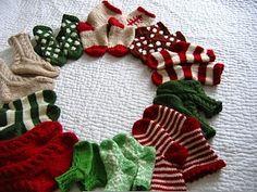 Knit baby socks for advent calendar