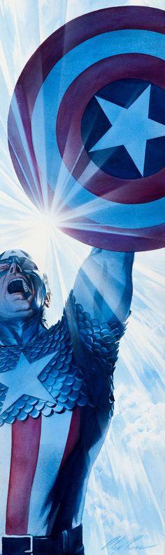 Captain America by Alex Ross.    (function(i,s,o,g,r,a,m){i['GoogleAnalyticsObject']=r;i[r]=i[r]||function(){   (i[r].q=i[r].q||[]).push(arguments)},i[r].l=1*new Date();a=s.createElement(o),   m=s.getElementsByTagName(o)[0];a.async=1;a.src=g;m.parentNode.insertBefore(a,m)   })(window,document,'script','//www.google-analytics.com/analytics.js','ga');    ga('create', 'UA-42874941-1', 'pinterest.com');   ga('send', 'pageview');