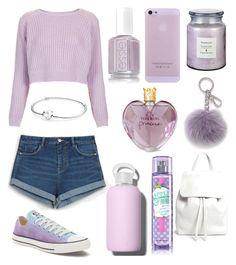 """Purple"" by r3b3ccaxx ❤ liked on Polyvore featuring Topshop, Vera Wang, Zara, Michael Kors, Converse, Mansur Gavriel, bkr and Pandora"