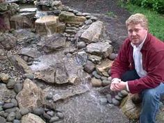 How To Install A Pondless Waterfall Step By Step in Plainfield, NJ Small Water Features, Water Features In The Garden, Garden Features, Diy Pondless Waterfall, Rock Waterfall, Garden Waterfall, Landscaping With Rocks, Backyard Landscaping, Backyard Waterfalls