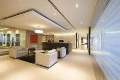 Reception Design. Toronto. Post Media. Designed by SDI Interior Design.