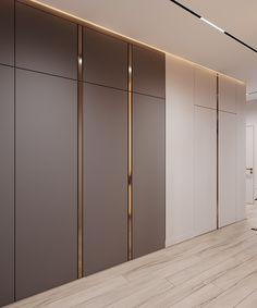 Apartment in Kazan, Russia. Luxury Bedroom Design, Master Bedroom Interior, Bedroom Closet Design, Home Room Design, Home Interior Design, Bedroom Built In Wardrobe, Wardrobe Room, White Wardrobe, Hallway Designs