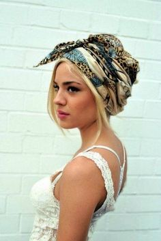 scarf ... am I brave enough to wear a head wrap in public? I sure would like to!