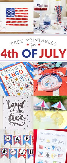 Fourth of July Printable Hop | 8 awesome blogs offer up gorgeous FREE Patriotic Printables!