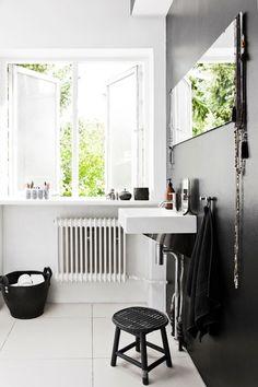 #interior #decor #styling #bathroom #Scandinavian #BW #black #white