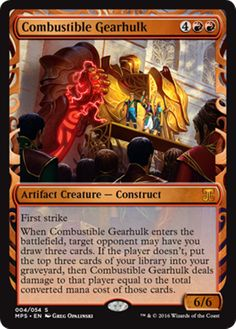 Combustible Gearhulk Masterpiece Series Kaladesh Inventions Magic the Gathering card